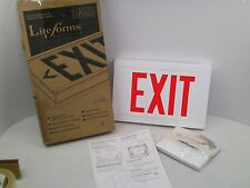 Nib Dual Lite Hubbell Lcsrwe Liteforms Cast Aluminum Led Emergency Exit Sign Cb