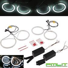 PMLIT LED White Angel Eyes Halo Rings Bulb Kit for 04-09 Mazda 3