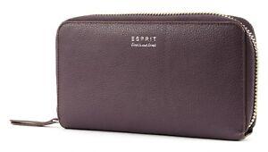 ESPRIT Shoulderbag Wallet Geldbörse Clutch Umhängetasche Berry Purple Violett