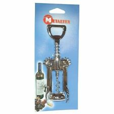 Metaltex Lever Corkscrew 16 cm Chrome Opens Bottles Quickly and Easily Opener