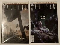 Dark Horse Comics Aliens: Life And Death #2 & #3 Palumbo Standard Covers