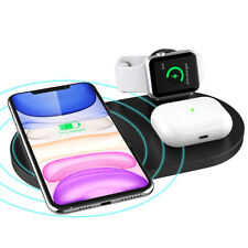AU 15W Qi Wireless Charger Pad Mat 3In1 For iWatch 5/4/3/2/1 iPhone 11 Pro XS 8
