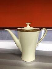 Teiera in porcellana Mitterteich Bavaria vintage anni 40 bordo oro