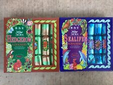 Pair of Wade Boxed Hedgerow & Sealife Christmas Crackers, Mib