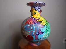 Vase Hand Painted Round Jar Vase
