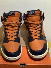 quality design 953c6 dc8b9 2003 Nike Dunk High Mesa Orange White Obsidian 305287-811 Size 9.5
