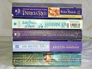 MIXED Lot of 5 Romance Books: Kingsley, Burrowes, Rice, Hannah, Bennett, good cd