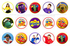 15 x The Wiggles Bottle Cap Logo Images for Necklaces, Magnets