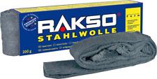 RAKSO Stahlwolle 200gr - Auswahl extrem fein bis grob - Schleifwolle Polierwolle