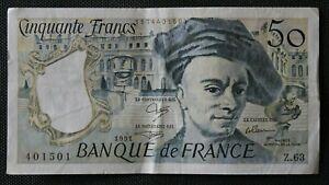 France - Francia - Billet de 50 Francs Quentin de la Tour 1991 TTB / VF