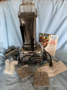 Vintage Vitamix 3600 Plus Blender Stainless Juicer Mixer with carrot,cider press
