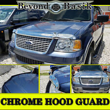 2003-2006 Ford Expedition Chrome Bug Shield Deflector Hood Guard Protector