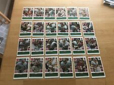 1986 McDonalds Play And Win NFL Washington REDSKINS 24 Card Set GREEN Tab