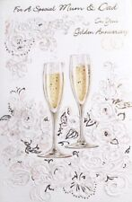 For a special Mum & Dad on your Golden Anniversary greeting card, 50 years, new