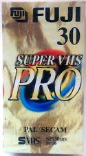 PACK 2 CINTAS VIRGENES VHS FUJI SUPER VHS PRO E-30 - NUEVAS PRECINTADAS -