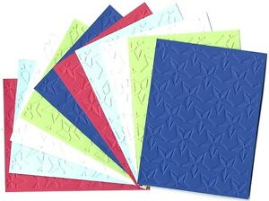 10 STARS Embossed A2 Card Fronts Recollections Sail Away Cardstock Paper Craft
