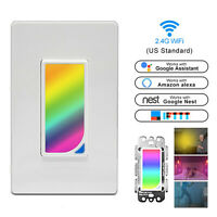 Smart WiFi LED Light Switch Remote Control Touch Panel For Alexa Google Home App