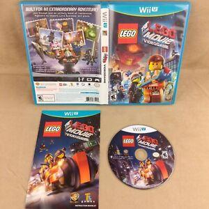 Nintendo Wii U Lego The Lego Movie Video Game - Tested & Working