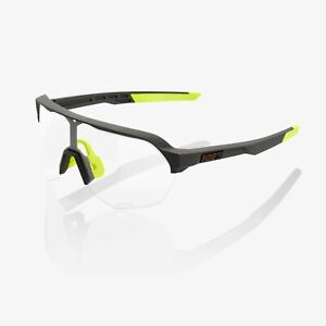 Ride 100% Cycling Sunglasses S2 - Soft Tact Cool Grey - Photochromic Lens
