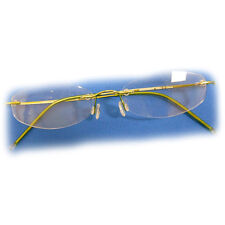 +3.5 Diopter Eschenbach Rimless Reading Glasses - Green Oval