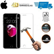 PELLICOLA VETRO TEMPERATO 4D CURVO per Apple iPhone Series COPERTURA TOTALE