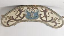 k05r49- Wappenschild mit Löwen Holz geschnitzt 18./19.Jh.