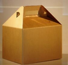 50 BIG LARGE KRAFT GABLE GIFT / WEDDING / PARTY BOXES SIZE 9 x 6 x 6""