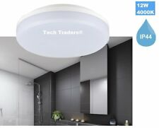 Tech Traders LED IP44 12W Bathroom Kitchen Ceiling Lights  26cm 4000K Day White