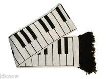 """Piano Keys Scarf 5ft long 6"""" Wide (Made in the U.K By Mrs Barrett)"""