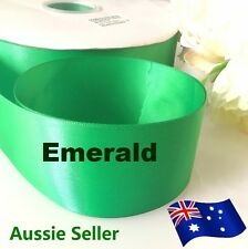 Emerald double side satin ribbon 50mmx91 M (100Y) for car & Invitation