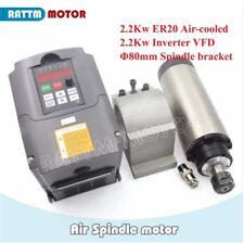 2.2KW Air Cooled Spindle Motor ER20+2.2KW VFD Inverter+80mm Clamp CNC Router Kit