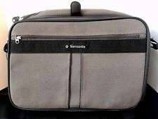"SAMSONITE SILHOUETTE 4 Gray Canvas Overnight Briefcase Bag w/ Shoulder Strap 15"""