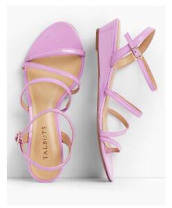 Talbots Women's Capri Multi-strap Mini Wedge Sandals Lilac wedge 10M
