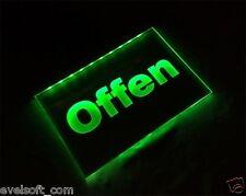 "LED Acryl Leuchtschild - Hinweisschild - Werbeleuchtschild ""Offen"" faunz©com"