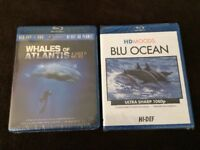 2 NEW Blu-Ray: WHALES OF ATLANTIS-In Search of Moby Dick & HD Moods BLU OCEAN