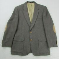 Playboy Men's Tailored Blazer Dark Gray Tweed & Tan Extra Large