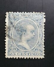 SELLO CLÁSICO ESPAÑA USADO  1889 ALFONSO XIII EDIFIL 221 25 CTS.