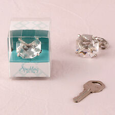 Diamond Key Chain Wedding Favor Set of 5 Bridesmaid Gift Weddingstar