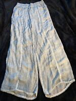 ANTHROPOLOGIE Saturday Sunday Womens Wide Leg Olive Green Pants, Size Small