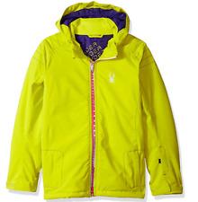 Spyder Girls Glam Jacket Yellow Size 10 NWT