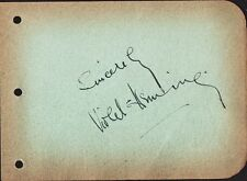 Vintage VIOLET HEMING Autograph - They Were Expendable