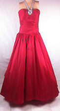 New Halter Straps Blush Prom Pleated Gown Rhinestones Gems Dress Ruby Red SZ 10