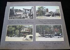 8x 1910 COLOR PHOTOGRAPHS JAPAN MIYAJIMA & CHINA SHANGHAI YANGTZE & HANKOW P261