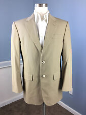 JOS A BANK 38 R Khaki Chino Pant Suit Excellent Cotton Blend 32 W flat front