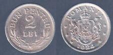 2 LEI 1924 ROMANIA Fdc Unc #6276