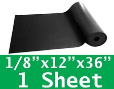 """1/8"""" thick Neoprene Rubber Sheet 12"""" x 36"""" SOLID Long Black 60 Duro FREE SHIP"""