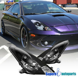 For 2000-2005 Toyota Celica Black Projector Headlights 2001 2002 2003 2004