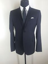COSTUME NATIONAL Recent Italy  Black Blazer Wool & Silk 2 Btn Side Vents  42 Reg
