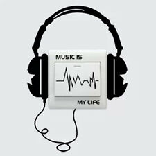 "New Letter ""Music Is My Life"" Wall DIY Art Wall Stickers Quote Decal Home Decor"