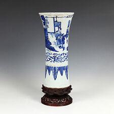 CHINESE BLUE AND WHITE WARES GLAZED PORCELAIN VASE CERAMICS POTTERY BASE CHINA